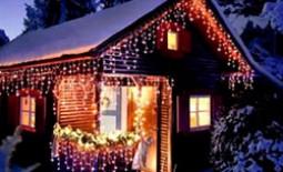 Украшение фасада к Новому году и Рождеству