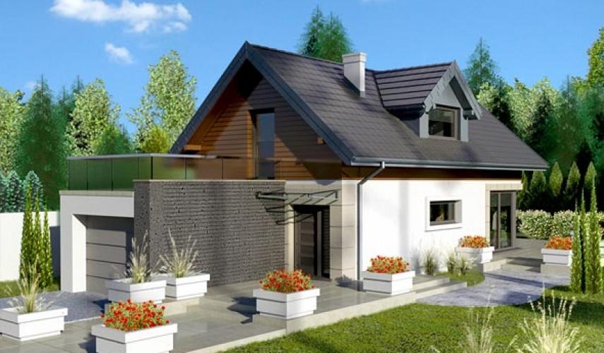 Проекты домов для узкого участка