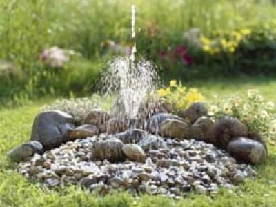 Пошагово сооружаем фонтан на даче своими руками