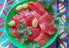 Заготовки из арбуза