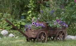 Декоративная телега для сада: как сделать своими руками, подробная инструкция с фото и видео-руководством