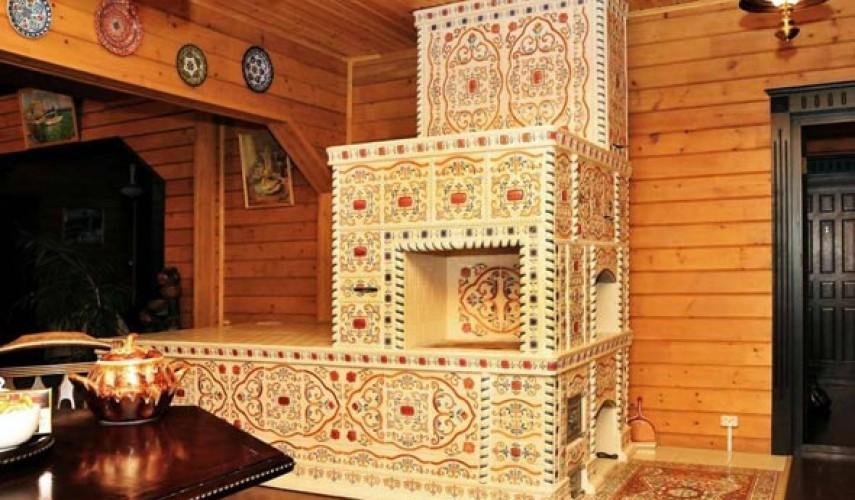 Облицовка печи керамической плитки