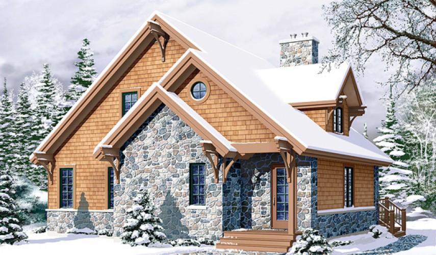 Интерьер загородного дома в стиле шале