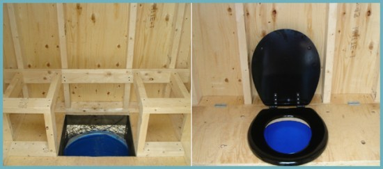 как монтировать пластиковый унитаз в дачном туалете