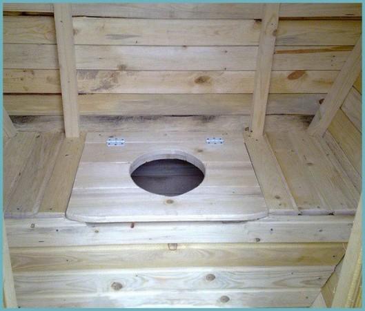 как сделать унитаз для дачного туалета из дерева