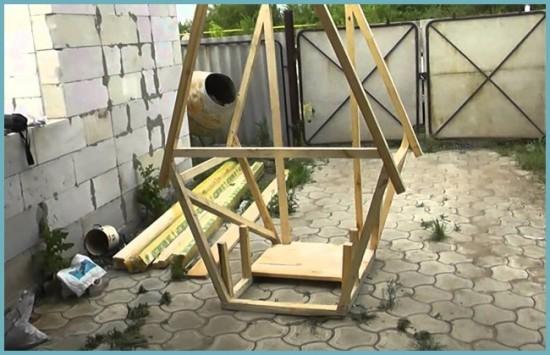 процесс строительства туалета для дачи