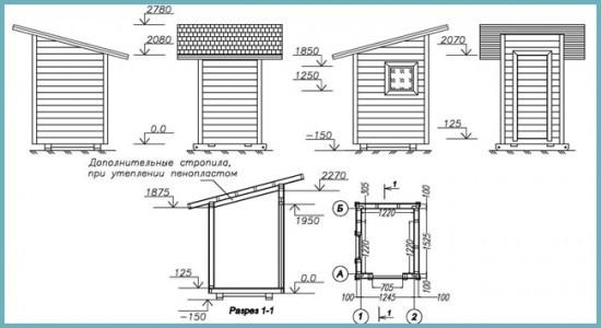 план строительства туалета на даче