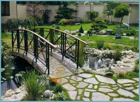 мостики в ландшафтном дизайне