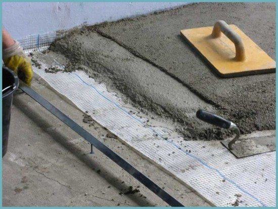 основа под плитку на пол