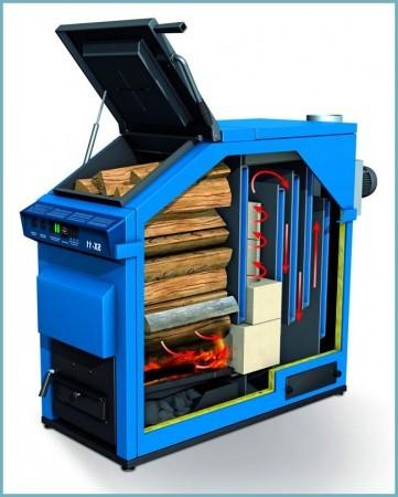 как работает дровяной отопительный котел
