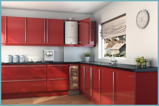 газовый настенный котел на кухне