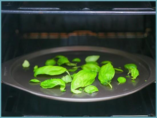как сушить базилик в духовке