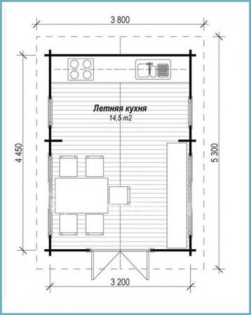 как построить кухню для дачи