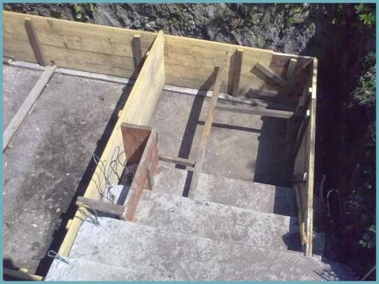 опалубка для бетонирования погреба