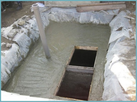 бетонное перекрытие погреба