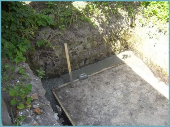 как сделать погреб из бетона