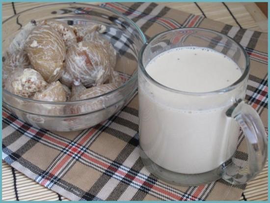 Молоко с инжиром для снижения жара