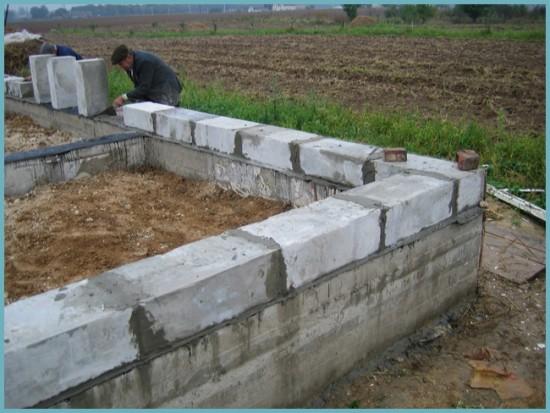 фундамент для дома из пеноблоков