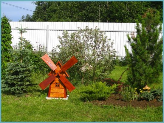 Если мельница деревянная, обязательно вскройте ее защитным средством