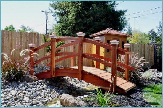 строительство мостика для сада