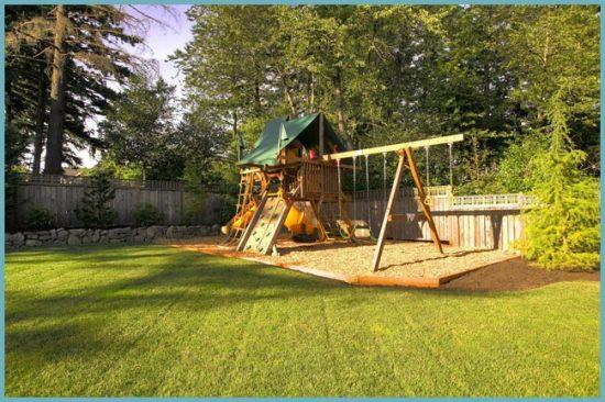 как сделать детскую площадку на даче