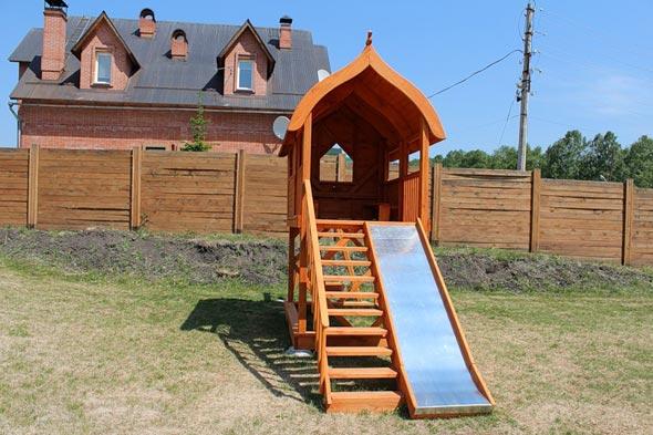 Горка для детей на даче