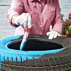 Клумбы для дачи из шин