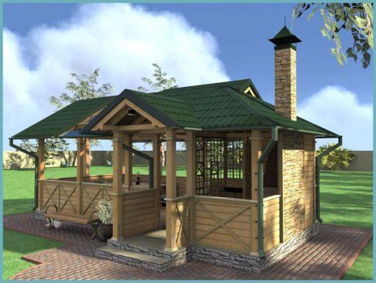 крыша для летней кухни