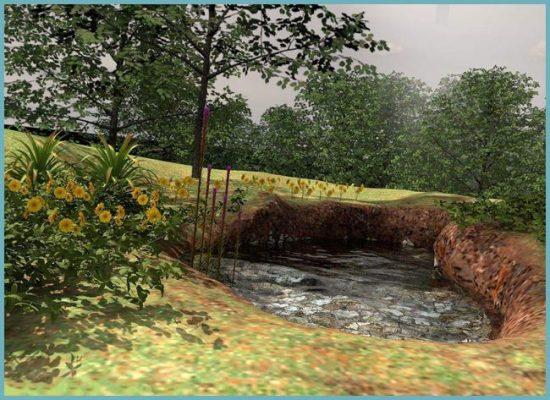 строительство пруда