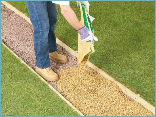подготовка основания садовой дорожки