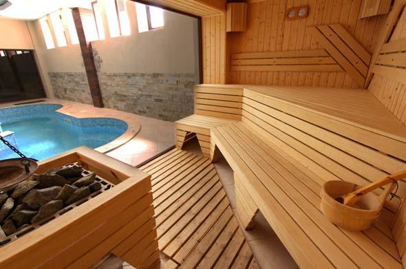 Строительство бани с бассейном