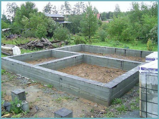 как сделать фундамент для бани