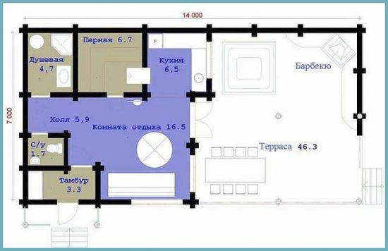 план строительства бани