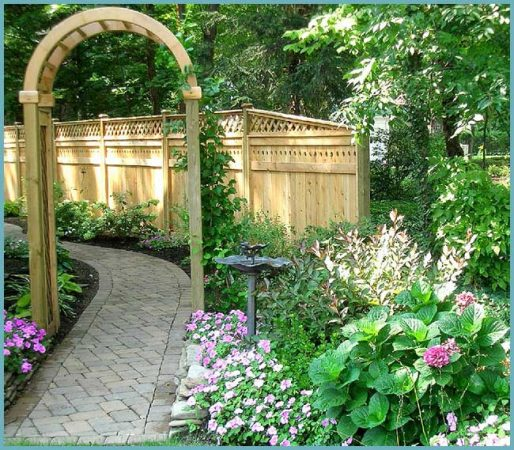 место для арки в саду