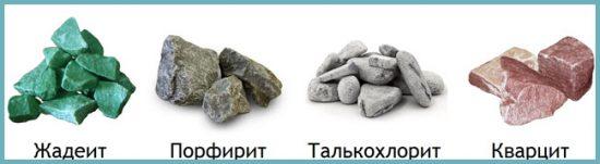какие камни купить для бани