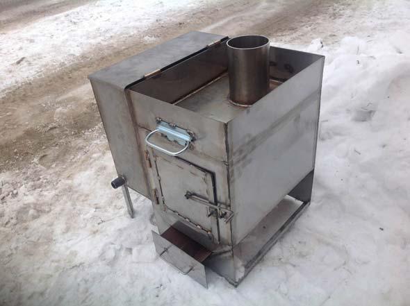 Печь для бани с баком для воды