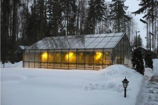 воздушное отопление теплицы зимой
