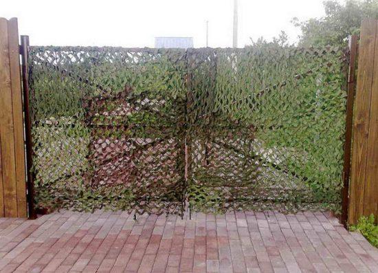 маскировочная сетка на забор