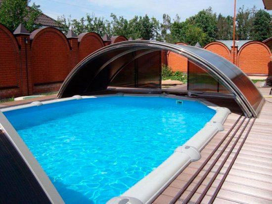 навес для бассейна из поликарбоната