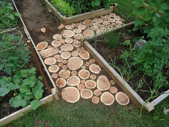 что сделать из спилов дерева