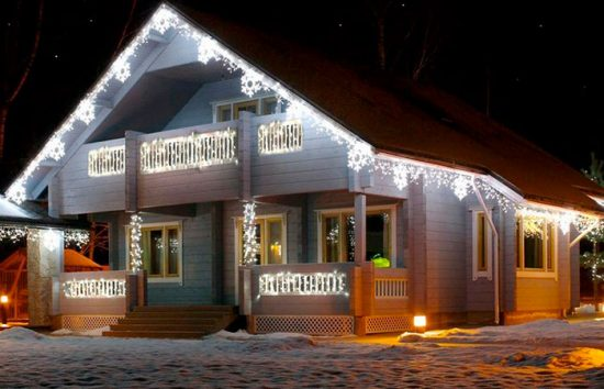 подсветка для фасада дома