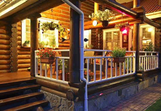 веранда для деревянного дома