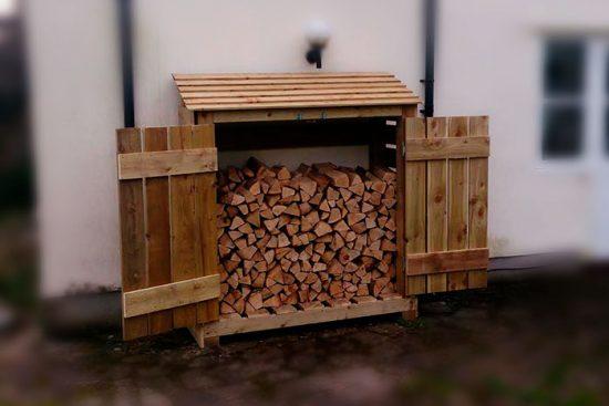 как построить хранилище для дров