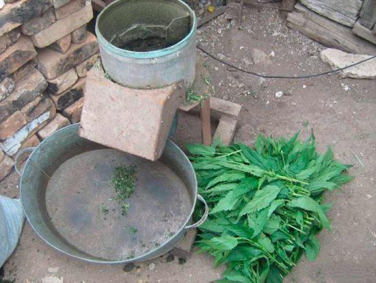 как сделать измельчитель для веток и травы