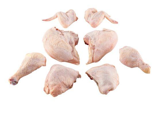 порционные куски курицы