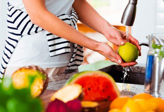 как мыть овощи