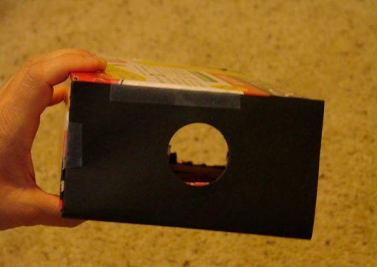 овоскоп из картонной коробки