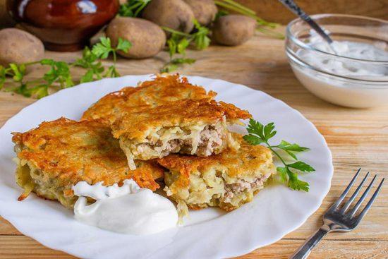 оладьи с картошкой