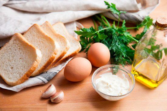 хлеб с яйцом