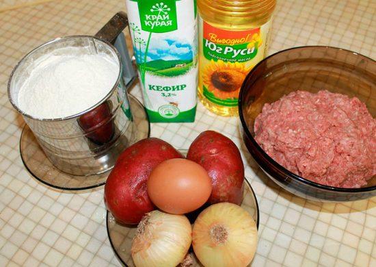 продукты для приготовления беляшей